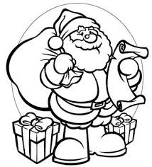 santa printables coloring pages craft holidays