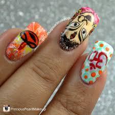preciouspearlmakeup navratri nails