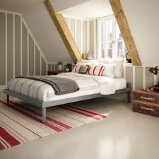 amisco attic glossy grey 60 inch queen size metal bed free