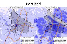 Map Of Downtown Portland Oregon portland vs detroit u2013 oregon business report