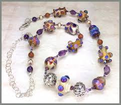 amethyst necklace beads images Lampwork glass bead amethyst pearl sterling silver necklace jpg