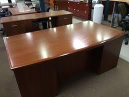 Executive Desk And Credenza Stow Davis Executive Desk And Credenza Set Surplus Office Equipment