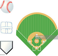 baseball field and home plate vector art getty images