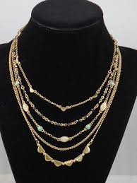 multi layer necklace images Lucky brand gold tone stone bead multi layer necklace o118 ebay jpg