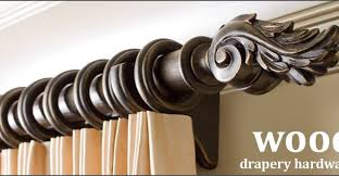 Wood Curtain Rods And Brackets Wood Curtain Rod With Fashionable Finalsrings Brackets Include