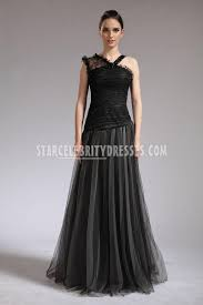 selena gomez black lace and tulle asymmetrical prom dress in who