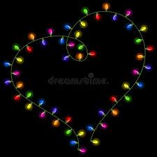 heart shaped christmas lights christmas lights shaped heart stock vector illustration of