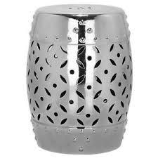 silver barrel side table 18 5 silver lattice coin ceramic barrel side table plant stand