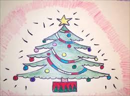 how to draw christmas tree hellokids com