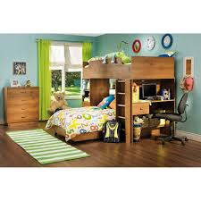 South Shore Logik Sunny Pine Twin Loft Bed Hayneedle - South shore bunk bed