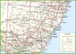 map of new south wales large detailed map of new south wales with cities and towns