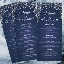 Wedding Menu Template Diy Printable Wedding Menu Template From Weddingcreative On