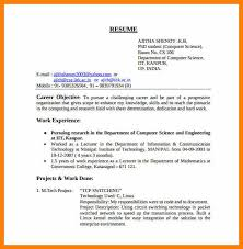Resume For Computer Science 6 Cv For Computer Science Proof Of Working