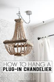 Chandelier Removal How To Hang A Plug In Chandelier Chandeliers Spaces And Lights
