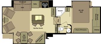 hitchhiker rv floor plans kitchen open range rv floor plans beautiful cer house cruiser