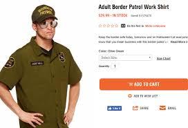 firefighter costume spirit halloween liberals outraged over u0027agent wall u0027 border patrol halloween