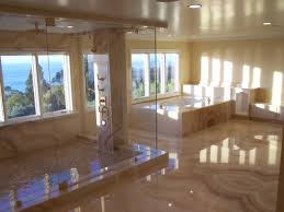 Kitchen Without Backsplash Countertop Splash Guard Smooth White Ceramic Flooring Brown Wooden