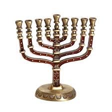 antique menorah hanukkah gifts small hanukkah menorah with antique gold finish