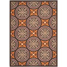 Safavieh Outdoor Rugs Safavieh Veranda Chocolate Terracotta 8 Ft X 11 Ft 2 In Indoor
