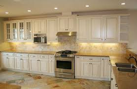 Low Cost Kitchen Cabinets Glazed Kitchen With Contrasting Island Traditional Cabinets Cream