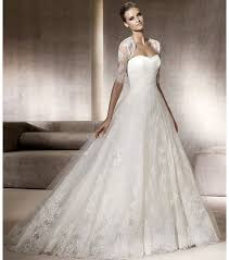 full a line pronovias wedding dress with lace bolero