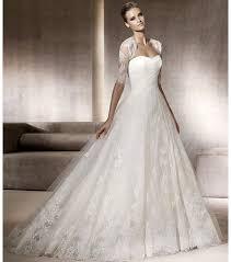 pronovias wedding dresses a line pronovias wedding dress with lace bolero