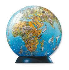 World Globe Map Amazon Com Ravensburger Illustrated World Map 240 Piece