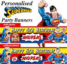Superman Birthday Party Decoration Ideas Personalised Superman Birthday Party Banners Decorations