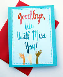 i miss you cards handmade card design we will miss you cards card ideas