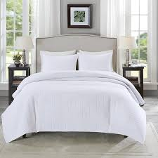 White Bedding Decorating Ideas Bedroom White Bedspread With Grey Ceramic Floor And Large Glass