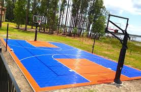 backyard basketball court flooring outdoor basketball court landscape traditional with homes on the