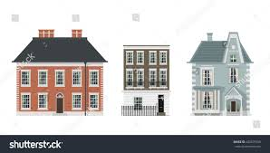 houses set stock vector 482879338