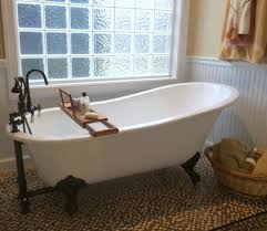 small bathroom with clawfoot tub design and separate showerdeas