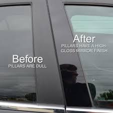 two door black lexus 01 05 honda civic 2 door coupe piano black pillar post trim