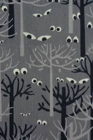 spooky eyes fabric glowing eyes eyes in trees halloween fabric