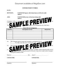 consignment sale agreement form legal forms and business