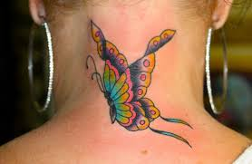 beautiful butterfly designs on neck beautiful butterfly