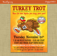 turkey trot 5k 10k marathon race poster thanksgiving walk run