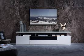 Tv Stand Hurst Contemporary Grey Gloss Tv Stand