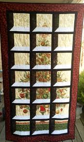 christmas tree panel attic window holiday quilts pinterest