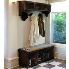 Coat Tree With Bench Entryway Storage Bench With Coat Rack Visualizeus