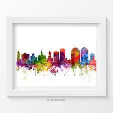 halifax poster halifax skyline halifax cityscape halifax