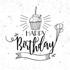 happy birthday greeting card or invitation card with beautiful