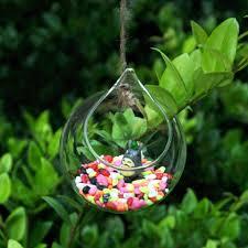 idee deco pour grand vase en verre vase suspendu de verre boule pour fleur décoration 12cm amazon fr