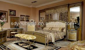 Modern Classic Bedroom Furniture 0016 Italy New Model Wood Home Furniture Gold Leaf Modern Classic