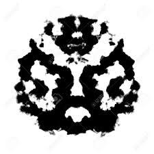 random rorschach inkblot test illustration random abstract design stock