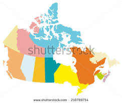 map if canada simple map canada stock vector 210789754