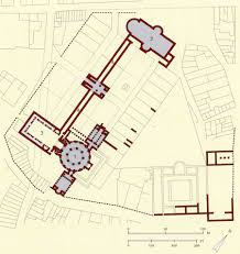 Aachen Germany Map by Carolingian U0026 Ottonian Architecture Drawing Of Palatine Chapel