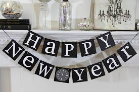 New Years Table Decorations Stylish Black And White Hanging Words For Table Decoration In New