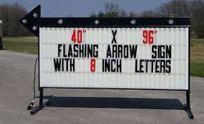 lighted message board signs new large roadside business sign flashing arrow lighted message area